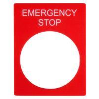 Табличка маркировочная EMERGENCY STOP прямоугольная - фото