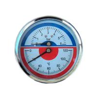 Фото термоманометра 6 bar/120C осевого (индикатор давления и температуры)